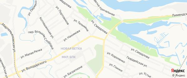 ГСК N128 на карте улицы Володарского с номерами домов