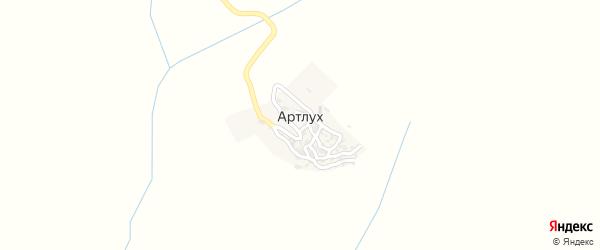 Улица Абдулатипова на карте села Артлуха с номерами домов