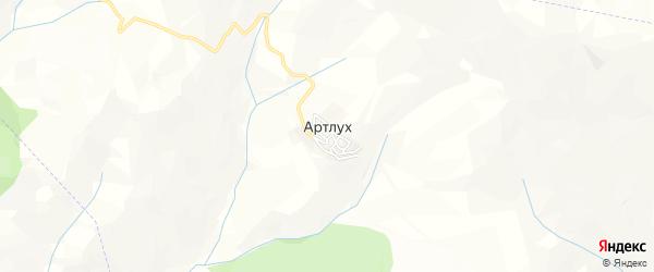 Карта села Артлуха в Дагестане с улицами и номерами домов