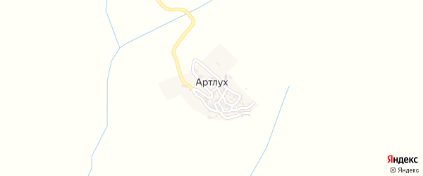 Улица Мухамада Хаджи на карте села Артлуха с номерами домов