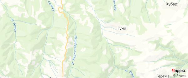 Карта Зубутлинский сельсовета республики Дагестан с районами, улицами и номерами домов