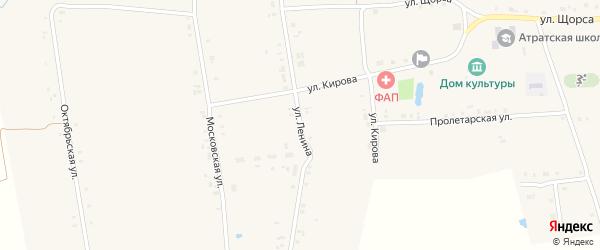 Улица Ленина на карте села Атрать с номерами домов