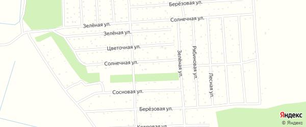 Солнечная улица на карте садового товарищества Темпа с номерами домов
