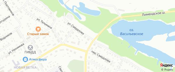 Улица Свердлова на карте Котласа с номерами домов