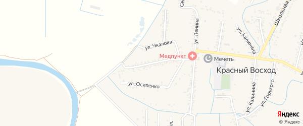 Улица Кирова на карте села Красного Восхода с номерами домов