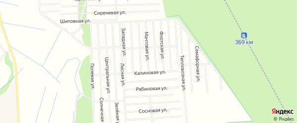 Карта поселка СОТА Малодвинского в Архангельской области с улицами и номерами домов