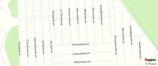 Солнечная улица на карте садового некоммерческого товарищества СОТА Судостроителя с номерами домов