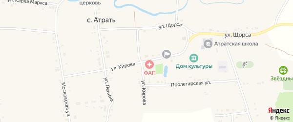 Улица Кирова на карте села Атрать с номерами домов