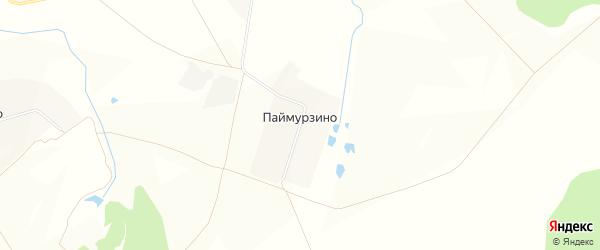 Карта деревни Паймурзино в Чувашии с улицами и номерами домов