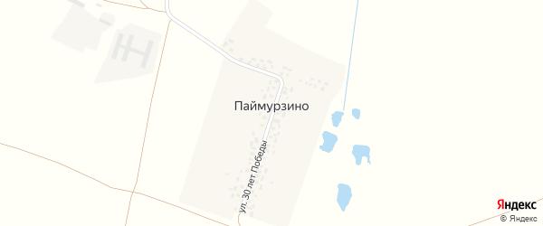 Улица 30 лет Победы на карте деревни Паймурзино с номерами домов