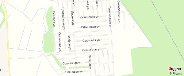 Карта поселка СОТА Энергетика в Архангельской области с улицами и номерами домов