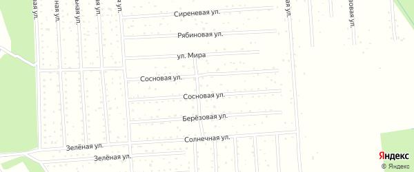 Сосновая улица на карте поселка СОТА Энергетика с номерами домов