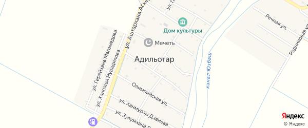 Центральная улица на карте села Адильотара с номерами домов