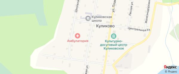 Новая улица на карте поселка Куликово с номерами домов