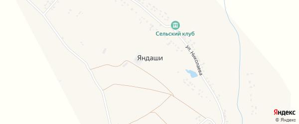 Нагорная улица на карте деревни Яндаши с номерами домов