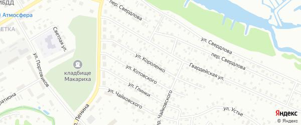 Улица Короленко на карте Котласа с номерами домов