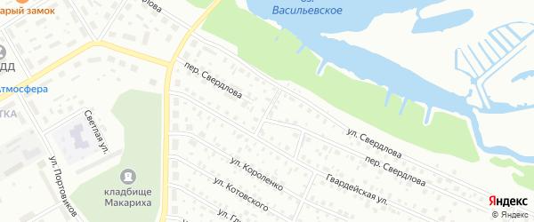 Гвардейский переулок на карте Котласа с номерами домов