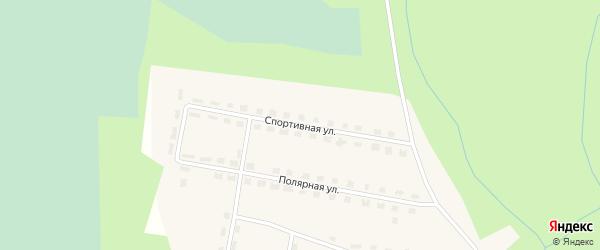 Спортивная улица на карте поселка Куликово с номерами домов