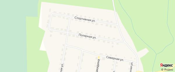 Полярная улица на карте поселка Куликово с номерами домов