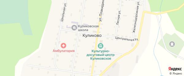 Поповская улица на карте поселка Куликово с номерами домов