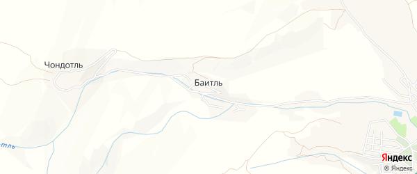 Карта села Баитля в Дагестане с улицами и номерами домов