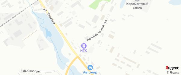 Проезд Промышленный тупик на карте Котласа с номерами домов