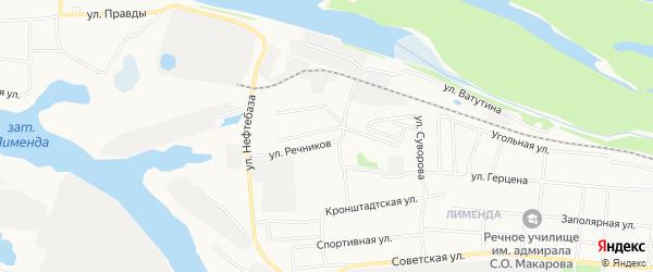 ГСК N17 на карте улицы Речников с номерами домов