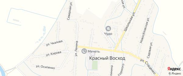 Улица Пушкина на карте села Красного Восхода с номерами домов