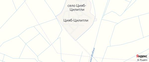 Карта села Цияба-Цилитли в Дагестане с улицами и номерами домов