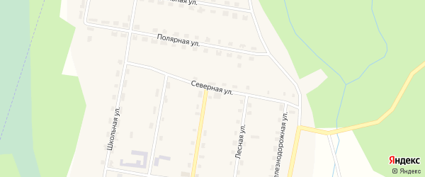 Северная улица на карте поселка Куликово с номерами домов