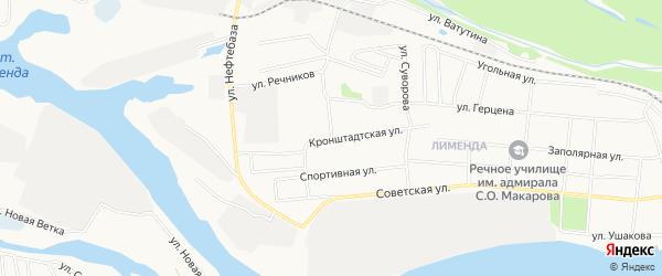 ГСК N99 на карте Кронштадтской улицы с номерами домов