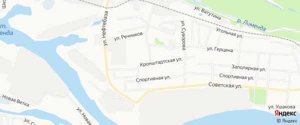 ГСК N135 на карте Кронштадтской улицы с номерами домов
