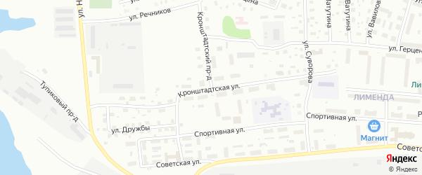 Кронштадтская улица на карте Котласа с номерами домов
