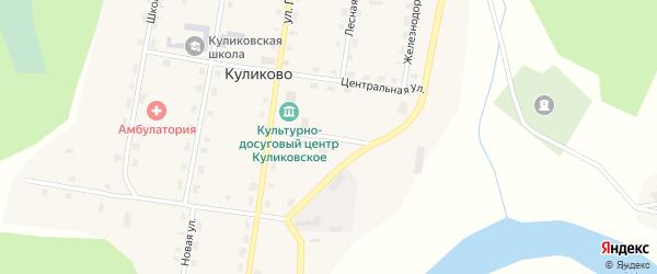 Молодежная улица на карте поселка Куликово с номерами домов