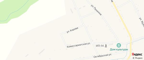 Улица Кирова на карте села Иваньково-ленина с номерами домов