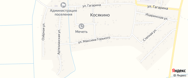 Улица Горького на карте села Косякино с номерами домов