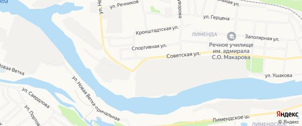 ГСК N35 на карте Советской улицы с номерами домов