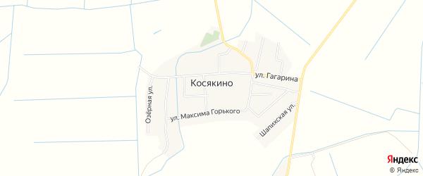 Карта села Косякино в Дагестане с улицами и номерами домов