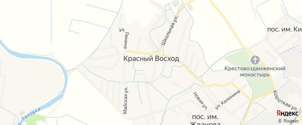 Карта села Красного Восхода в Дагестане с улицами и номерами домов