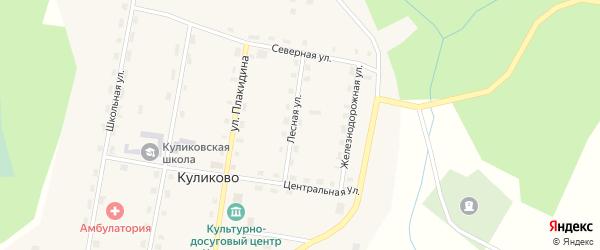 Лесная улица на карте Ершевской деревни с номерами домов