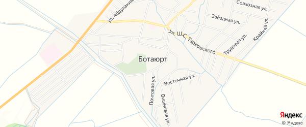 Карта села Ботаюрта в Дагестане с улицами и номерами домов