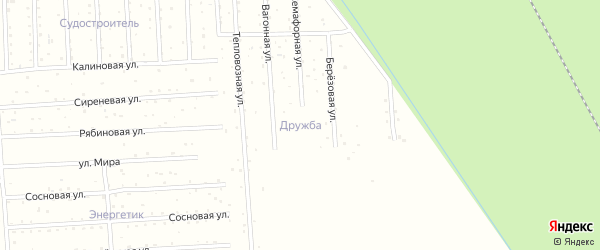 Тепловозная улица на карте садового некоммерческого товарищества СОТА Дружбы с номерами домов
