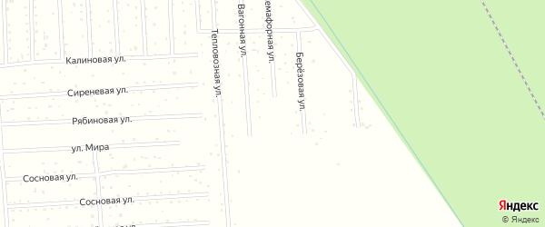 Березовая улица на карте садового некоммерческого товарищества СОТА Дружбы с номерами домов