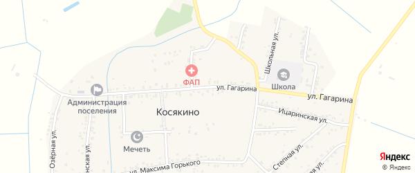 Улица Гагарина на карте села Большей Задоевки с номерами домов