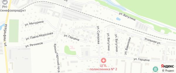 Улица Панфилова на карте Котласа с номерами домов