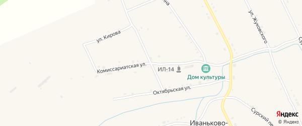 Комиссариатская улица на карте села Иваньково-ленина с номерами домов
