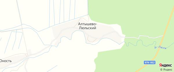 Карта Алтышева-Люльского поселка в Чувашии с улицами и номерами домов