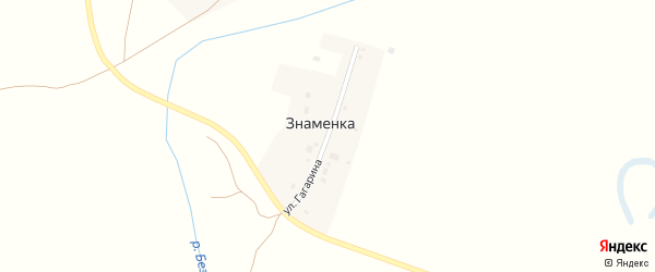 Улица Гагарина на карте поселка Знаменки с номерами домов