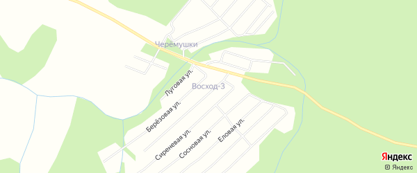 Карта поселка СОТА Восхода-3 в Архангельской области с улицами и номерами домов