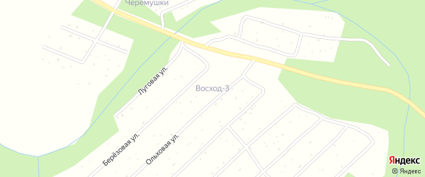 Ольховая улица на карте поселка СОТА Восхода-3 с номерами домов